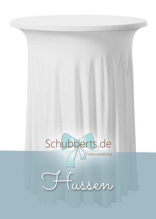 runder Stehtisch mit weißer Tischhusse  für Hochzeitsdekoration Chemnitz