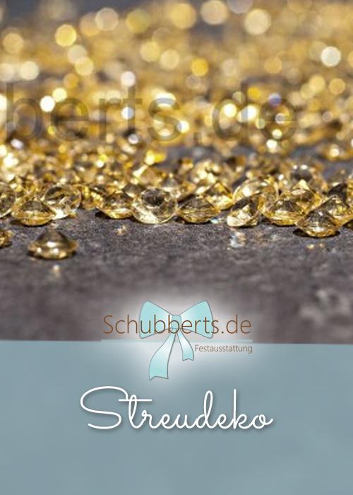 Goldene Streudeko aus Acryl